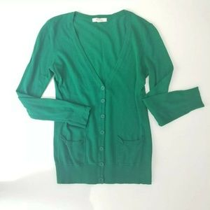 Cardigan Forever 21 Green Button Down Size Medium